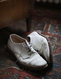 Alden, white shoes