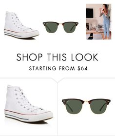 """""""Zoella - Patch Overalls, Sports Bra"""" by zoellaispretty on Polyvore featuring Converse and Ray-Ban"""