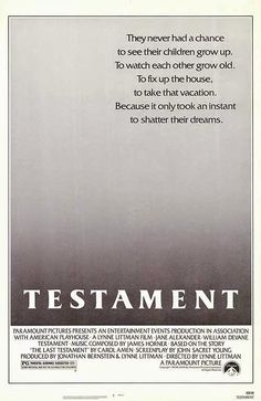 """RECOMMENDED! A MUST SEE FILM! FULL CLASSIC MASTERPIECE! """"Testament"""" (1983) 