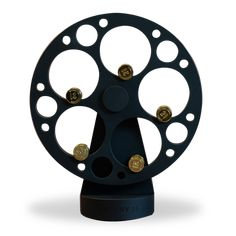 The wheel and cylindrical shaft of the sculpture awards were fabricated from aluminum. The finish of these components was bead-blasted and anodized black. Trophy Design, Custom Awards, Recognition Awards, Perpetual Motion, Real Estate Broker, Design Firms, Sculpture, Bead, Create