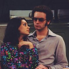 that 70s show playlist - jackie burkhart / steven hyde. (mila kunis / danny masterson / ashton kutcher / gopher grace / laura propane / wilmer valderrama ) Hyde That 70s Show, Jackie That 70s Show, Thats 70 Show, Steven Hyde, Movies Showing, Movies And Tv Shows, Series Movies, Tv Series, Eric Forman