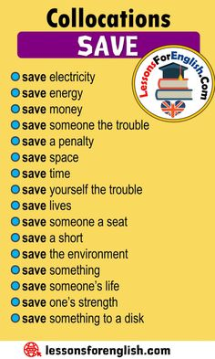 Collocations with SAVE in English - Lessons For English English Vocabulary Words, English Phrases, Learn English Words, English Study, Essay Writing Skills, English Writing Skills, English Lessons, Teaching English Grammar, English Language Learning