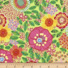 Designed for Timeless Treasures, this cotton print fabric is perfect for quilting, apparel and home decor accents. Colors include pink, red, orange, blue, yellow and shades of green.