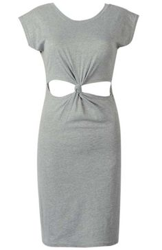 Grey Knotted Cut Out Bodycon Dress 12.02