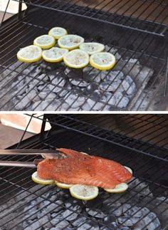 Because fish sticks and falls apart so easily on a grill, this is the best way to cook it! Not only does the fish soak up the citrus flavor of the lemons, but it keeps your fish in one piece and makes clean up really easy