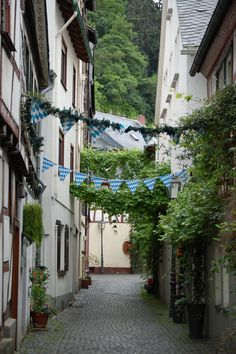 Bacharach Germany.  The quiet streets of Bacharach that we'll wander....