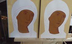Σπουδή στον κόπο των μαθητών Best Icons, Byzantine Art, One Stroke, Religious Art, Drawings, Videos, Face, Photos, Painting