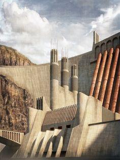 Power station, a hommage to Antonio Sant'Elia