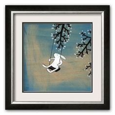 "Art.com ""Follow Your Heart - Swinging Quietly"" Framed Art Print by Kristiana Parn"