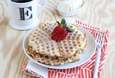 SNICKERDOODLE WAFFLES (makes 6-8).. 1 2/3c flour, 1Tbsp @ baking powder/brown sugar, 1/2tsp salt, 3eggs, 1/2c butter-melt then cool, 1 1/2c milk, 1tsp vanilla extract, 1/3c sugar+1Tbsp cinnamon-topping... Whisk first 4 dry ingredients to combine. Add eggs+milk+vanilla extract.Stir to combine. Pour in cooled(to prevent egg scrambling)butter. Stir till nearly no lumps remain. Heat waffle iron. Cook about 1/3c batter at a time. Combine sugar+cinnamon on plate.Dip hot waffle n sugar mix to coat…