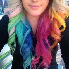Love the pink and green curl. Might just do those colors.