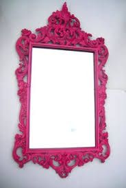 Vintage hot pink mirror: