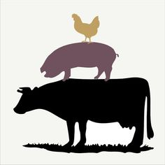 COW PiG CHICKEN stack- Farm Stencil- 4 Sizes Available - Create Rustic Signs Pillows and wall art!