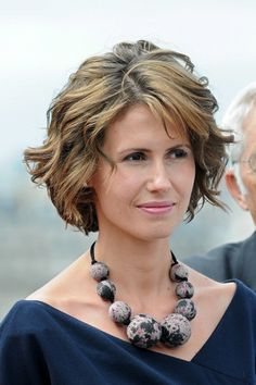 Asma Assad First Lady of Syria Hairstyles Over 50, Cute Hairstyles For Short Hair, Short Hair Cuts, Short Hair Styles, Cut And Style, Cut And Color, Wavy Bobs, Natural Curls, Layered Hair