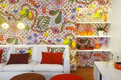Lisa Mende Design: Josef Frank Exhibit on Tour in US. Josef Frank, Home Interior, Interior Decorating, Interior Design, Interior Walls, Wall Treatments, Cool Wallpaper, Bold Colors, Surface Design