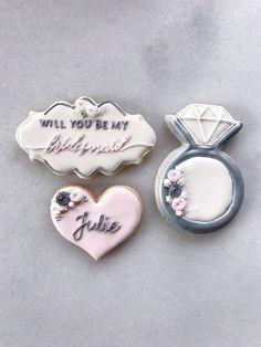Will You Be My Bridesmaid Cookies- Bridesmaid Proposal Cookies - Maid of Honor Flower Girl Proposal Bridesmaid Flowers, Wedding Bridesmaids, Perfect Wedding, Our Wedding, Wedding Ideas, Bridesmaid Cookies, Lemond Curd, Engagement Cookies, Will You Be My Bridesmaid Gifts