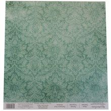 Aqua Damask Scrapbook Paper by Recollections®