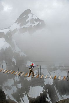 Sky Walking, Mt. Nimbus Ferrata, Canada   Ohhh!!!  Can't say I could do this