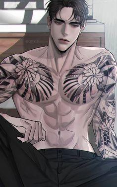 Anime Sexy, Hot Anime Boy, Dark Anime Guys, Cool Anime Guys, Anime Guys Shirtless, Handsome Anime Guys, Manga Art, Manga Anime, Anime Couples Manga