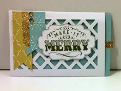 Artfully Sent, Make It Merry, Close To My Heart Christmas Card