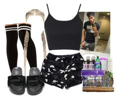 """""""I need these Bape shorts ."""" by ssophiiia ❤ liked on Polyvore featuring Topshop and Akira"""
