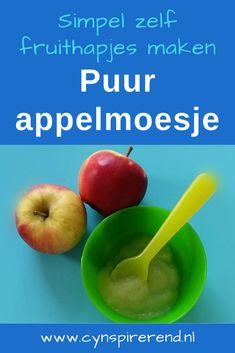 Toen onze kleine madam ongeveer 4 maanden oud was, zijn we voor het eerst begonnen met een beetje vast voedsel. Als eerste kreeg onze kleind meid lekkere groentehapjes. Toen dat goed ging, waren de fruithapjes aan de beurt. Ik maakte voor onze kleine meid de fruithapjes het liefst zoveel mogelijk zelf. Vandaag leg ik je uit hoe je makkelijk zelf fruithapjes kunt maken én bewaren! Mango, Apple, Fruit, Food, Manga, Apple Fruit, Essen, Meals, Yemek