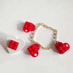 His & Hers Valentine's Day LEGO Jewelry Crafts
