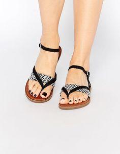 Image 1 - TOMS - Lexie - Sandales tressées à entredoigt - Noir