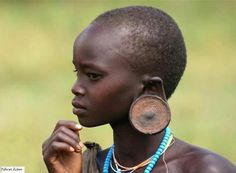Black People : - Faces of The Motherland Out Of Africa, East Africa, African Tribes, African Women, Mursi Tribe, In And Out Movie, Brown Girl, African Culture, Ethnic Jewelry