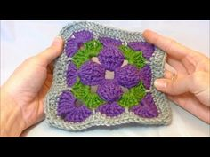 ▶ Motif of the Month May 2013: 3D Granny Square Part 1 (Includes Free Pattern for Bag) - YouTube