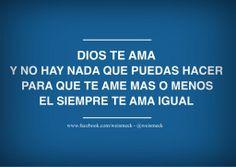 Buenos días familia!  Recuerden que Dios siempre nos ama igual, Su amor permanece siempre fiel. #Felizdia.