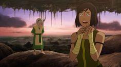 Toph and Korra. Avatar Show, Team Avatar, Avatar Picture, Korra Avatar, Beautiful Series, Korrasami, Fire Nation, Best Series, Legend Of Korra