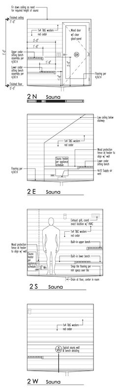 sauna w/ changing room layout Construction Business, Construction Design, Saunas, Custom Woodworking, Woodworking Projects Plans, Spa, Building A Sauna, Sauna Seca, Sauna Design
