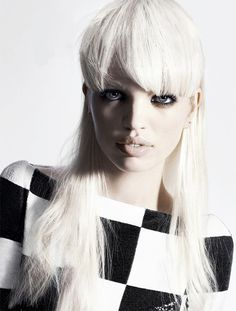 Daphne Groenveld by Hasse Nielson for Dansk Magazine, Spring 2013. white hair color and style