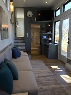 Extra Large Tiny Home - Tiny House for Sale in Colleyville, Texas - Tiny H. Extra Large Tiny Home - Tiny House for Sale in Colleyville, Texas - Tiny House Listings Tiny Houses For Sale, Tiny House On Wheels, Tiny House Plans, Little Houses, Small Tiny House, Best Tiny House, Modern Tiny House, Tyni House, Built In Dresser