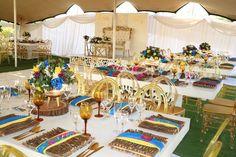 Traditional Wedding Decor, Wedding Planning, Wedding Ideas, Wedding Decorations, Table Decorations, Draping, African Fashion, Dream Wedding, Bright