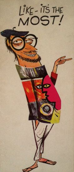Beatnik greetnik card for the Seattle World's Fair.