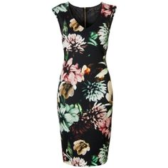 Mouwloze jurk met dahlia print Zwart - Steps. €89,95