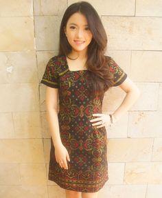 Essential Tenun Dress Black Gold (Short Sleveed) Batik Kebaya 4b0c147762