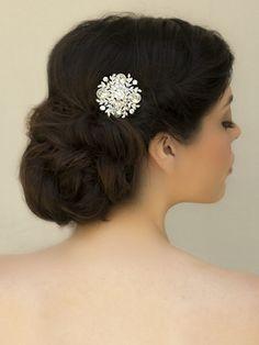 "Classic Rhinestone Bridal Hair Comb ~ ""Julianne"" - Bridal Hair Accessories, Wedding Headpieces, Bridal, Wedding, Hair Accessories, Headpieces, Combs, Clips, Hair Pins, Flowers, Headbands, Tiaras, Jewelry, Vintage, Beach - Hair Comes the B"