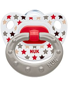 NUK Classic Pacifier Happy Days Orthodontic 0-6 Months Silicone (4456-4) #NUK