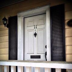 Front Door Shutters | My Dream House:) / White front door with shutters in Savannah