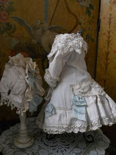 ~~~ Most Beautiful French BeBe Pique Dress with Bonnet ~~~ from whendreamscometrue on Ruby Lane