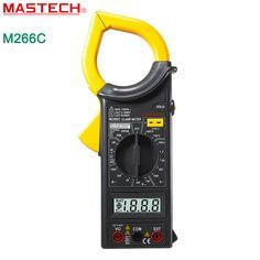 MASTECH M266C Digital Clamp Meter Voltmeter Ohmmeter ACVoltage AC Current Resistance Temp Tester Detector with Diode multimeter #Affiliate