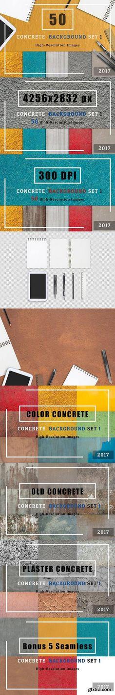 CM - 50 Concrete Textured Background Set1 1446625