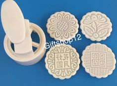 Giftshop12 Mooncake Mold Traditional White Round Cookie Cutter Mold 125g ^^ Insider's special review that you can't miss. Read more :  : Baking Accessories