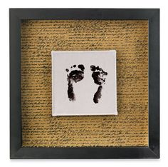 footprint shadow box - maybe I could dig out the kids' baby footprints from their baby books, photo copy, and make a set of these? (as a Mother's Day gift to myself!) :)
