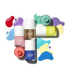 Joe Fresh Beauty spring nail polish shades: Cherry Blossom, Melon, Periwinkle, Topaz, Mojito Mix and Sour Citron.