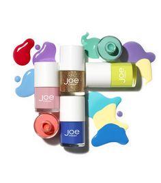 Joe Fresh Beauty spring nail polish shades: Cherry Blossom, Melon, Periwinkle, Topaz, Mojito Mix and Sour Citron.
