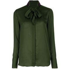 GIVENCHY Sequin blouse (1 000 AUD) ❤ liked on Polyvore featuring tops, blouses, shirts, green, green sequin shirt, long sleeve sequin shirt, green top, longsleeve shirt and long sleeve cotton shirt
